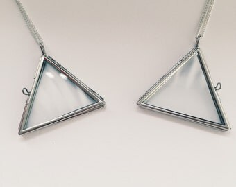 Triangle Locket Necklace