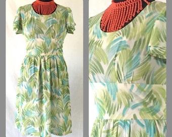 Vintage 70s Tea Dress Boho Hippy Print Mini Dress Festival Dress Retro Dress 8/10