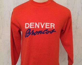 80s Denver Broncos vintage sweatshirt, Logo 7, size Large, Made in USA