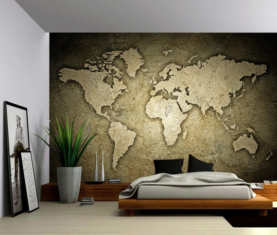 Sepia Stone Texture World May by GlowingWallDecor