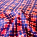 Printed silk and cotton blend fabric