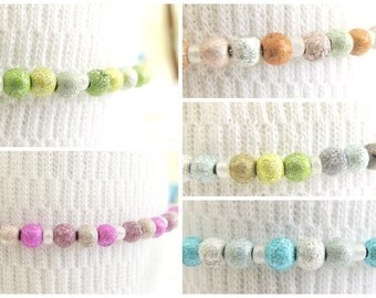 SALE: Set of 5 cute and colorful memory wire bracelets