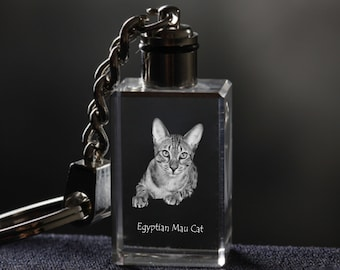 Egyptian Mau , Cat Crystal Keyring, Keychain, High Quality, Exceptional Gift