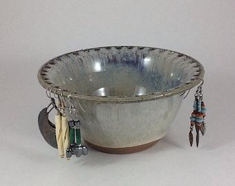 Earring Holder, Pottery Jewelry Bowl, Ceramic Earring Holder, Handmade Stoneware Pottery