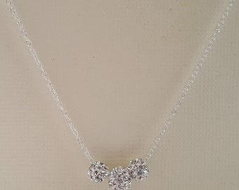 Dainty Crystals Sterling Silver Necklace