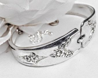 For Her, Spoon bracelet, Antique Spoon  Bracelet, Silver Spoon Bracelet,  Spoon Jewelry, Vintage Silverware Jewelry ,Repurposed Jewelery