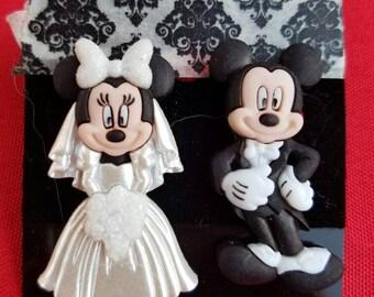 Mickey And Minnie Wedding Earrings