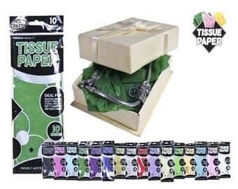 DARK GREEN - Tissue Paper 10 Sheets 50x70cm Premium Quality. Gift Wrap, Craft