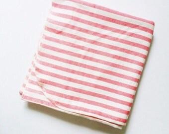 Flannel Receiving Blanket in Stripes; Flannel Swaddle Blanket