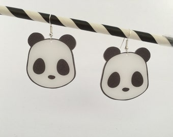 Panda shrink plastic earrings