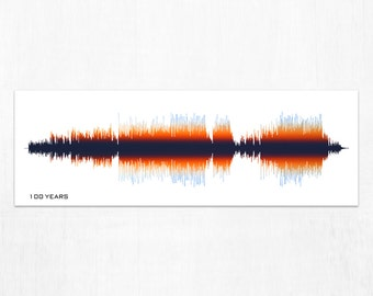 100 Years - Five For Fighting - Music Sound Wave Canvas Wall Art