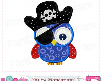 Halloween Pirate applique,Pirate owl design,Pirate applique,Halloween,Owl applique,Owl,Halloween,Pirate applique,Owl applique.-1607