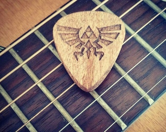 Hylian Crest Zelda Guitar Pick in Cherry