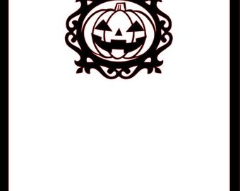 Jack O Latern Scrapbook halloween die cut Cardstock Overlay 12x12 embellishment page Choose Color