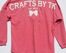 Custom Spirit Jersey with puffy print available! Pom Pom Jersey! No Minimums!