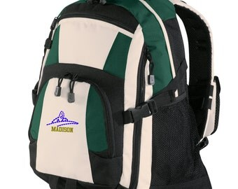 Personalized Backpack Embroidered Back Pack Custom Backpack - Sports - Swimming - BG77