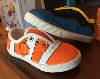 Nemo and dory themed shoes