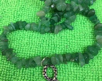 Green Aventutine Snake  Necklace