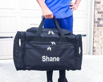 Men Duffle Bag, Boy Duffle Bag, Black Duffle bag, Monogram DUFFLE Bag, Sport Duffle Bag, MenLuggage, Men Weekender Bag, Black Overnight Bag