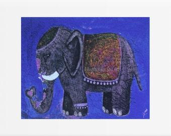 Elephant art print - Elephant wall art - Elephant nursery art - Elephant home decor - Elephant artwork - Elephant gift idea  - Kids wall art