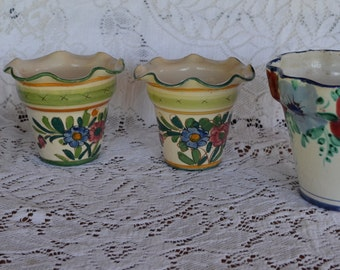 Four pieces of Italian Pottery