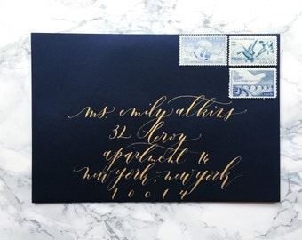 Wedding Calligraphy Envelope Addressing / Hand lettered / Custom Wedding Address