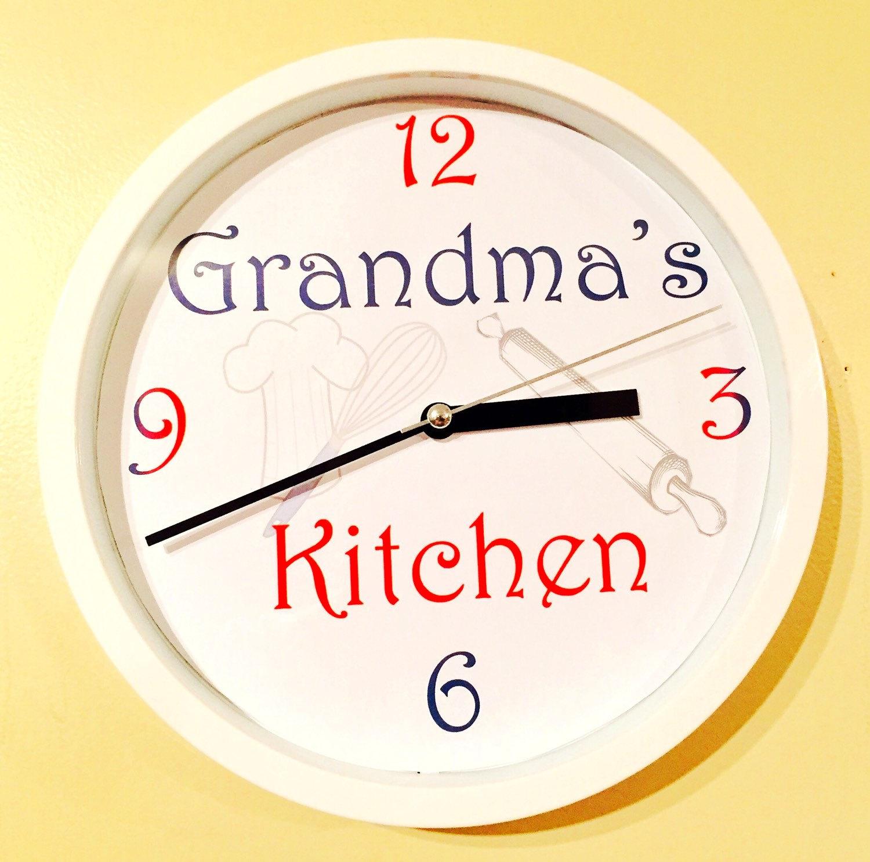 Grandmothers Kitchen: Grandma's Kitchen Wall Clock / Rustic Wall Clock / Gift