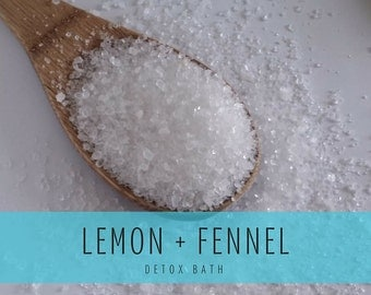 Lemon Fennel Detox Bath, Detox Bath Salts, Detox Bath Soak
