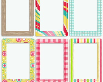Bright and Colorful Frames, Happy Frames - Instant download - Digital Frames for Photographers
