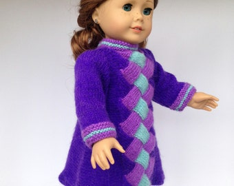 Knitting Patterns For Maplelea Dolls : Entrelac Etsy