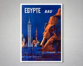 Egypte Rau Travel Poster - Poster Paper, Sticker or Canvas Print