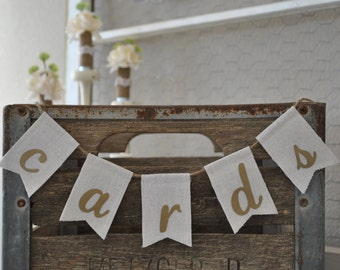 Wedding Cards Banner   Wedding Cards Sign   Rustic Wedding Banner   Barn Wedding Decor  
