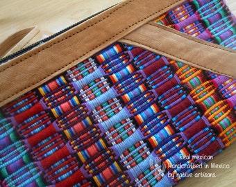 Folk Art Crossbody Mini bag. Handmade textile. Bright. Colorful. Vegan. Mexican.NEW