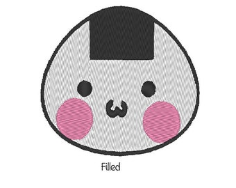 Onigiri Riceball Embroidery Pattern. 2 designs! Kawaiii