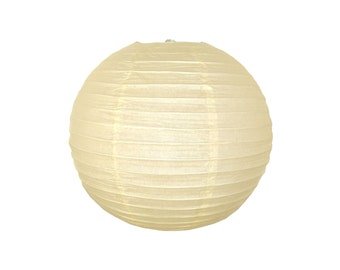"12"" Ivory Paper Lantern RPL120054 Just Artifacts Brand - Paper Lanterns for Weddings, Parties, & Home Decor"