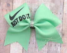 Cheer Bow mint, competition cheer bows, team cheer bows, Nationals bow, Christmas gifts for cheerleaders, gifts for girls