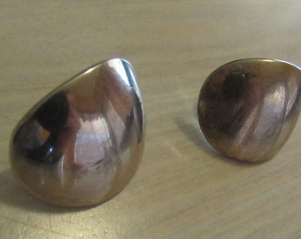 Domed Sterling Silver Post Earrings