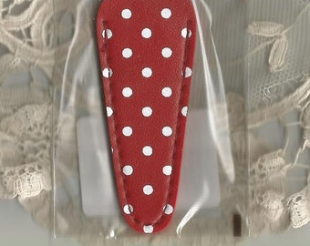 SCISSOR SHEATH  SCISSOR Case | Needlework and Embroidery Scissor Case | Scissor Sheath, Red, White Polka Dot