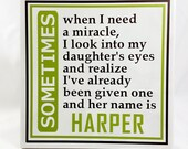 MY DAUGHTER My MIRACLE - New Baby Gift -Personalized Daughter Plaque - Children Are a Miracle - Baby Shower Gift - Child's Name Plaque