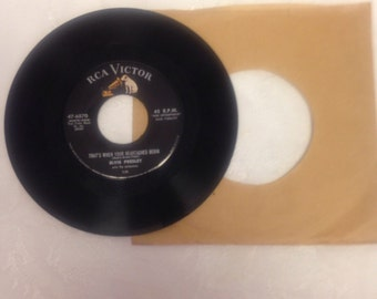 Elvis 45rpm Record - All Shook Up and That's When Your Heartaches Begin