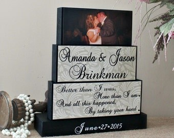 5th Anniversary Gifts, Unique Wedding Gift For Couples, Wedding Wood Sign, Bridal Shower Gift, Groom to Bride Gift, Engagement Gift