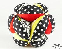 Montessori Ball, Baby Toy, Puzzle Ball, Ball, Black polka dot