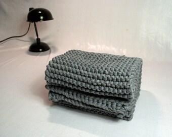Wide Grey Jersey Fabric scarf.