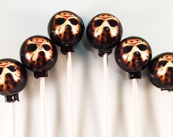 6 Jason Mask Hard Candy Lollipops