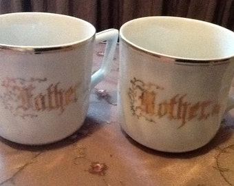 Vintage Mother & Father Cups Bavaria, Germany