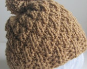 NEW - Texture Stitch Slouch Hat -  Knitting Pattern - 3 sizes - Pdf - Instant Download