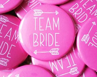 Pink Team Bride Badges - Hen Party Badges