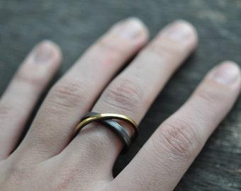ORBITALS Ring - Minimalist, Modern Statement Ring, Sterling Silver