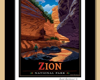 Zion National Park, 11x14 Framed Giclee print.