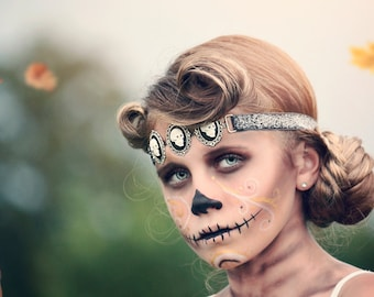 Skull Headband - Skeleton Headband - Halloween Headband - Skeleton Costume - Gothic Headband - Skull Hair Accessory - Halloween - Photo Prop